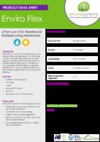 Enviro Flex – Product Data Sheet