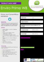 Enviro Prime WB – Data Sheet