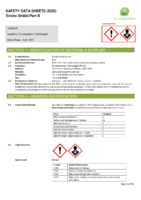 Enviro Shield Part B – SDS
