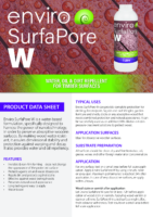 Enviro SurfaPore W – Product Data Sheet