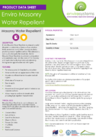 Enviro Masonry Water Repellent – Product Data Sheet
